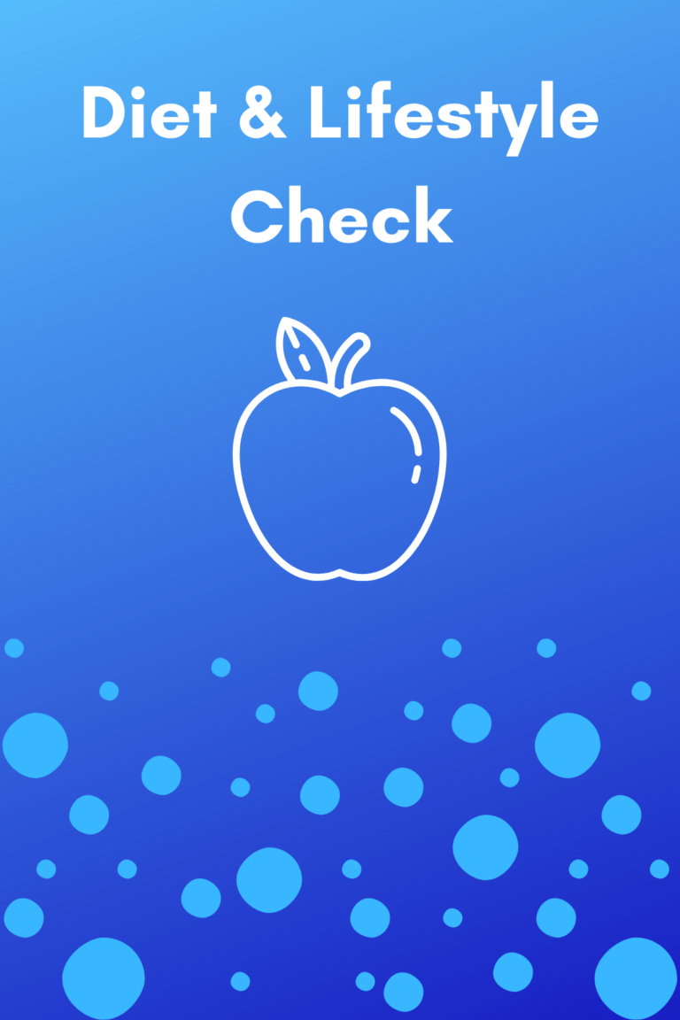 diet and lifestyle check test