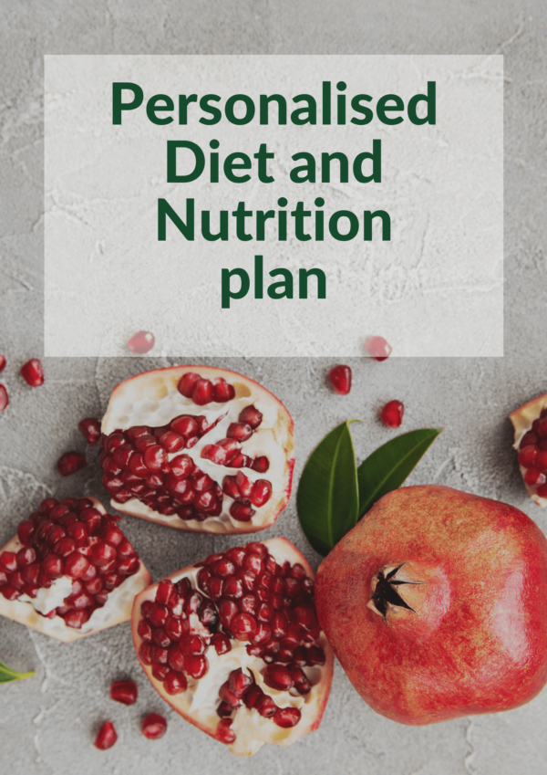 Personalised Diet and Nutrition plan